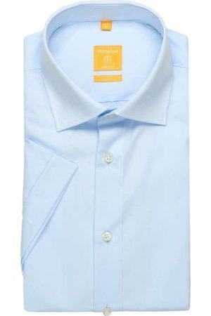 Redmond Heren Korte mouwen - Modern Fit Overhemd Korte mouw lichtblauw, Effen