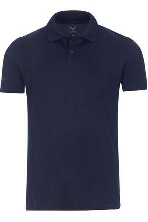 Trigema Heren Korte mouw - Slim Fit Polo shirt Korte mouw donkerblauw, Effen