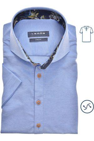Ledub Slim Fit Polo shirt Korte mouw , Effen