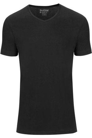 Slater Heren Korte mouw - Regular Fit Ondershirt , Effen