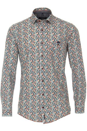 Casa Moda Casual Casual Fit Overhemd /turquoise, Motief