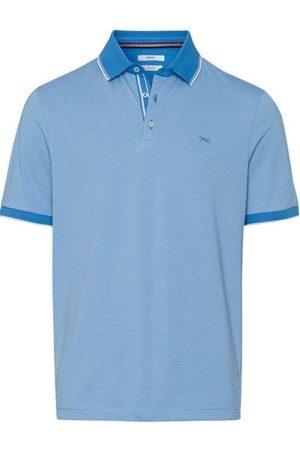 Brax Modern Fit Polo shirt Korte mouw ijsblauw, Gestreept