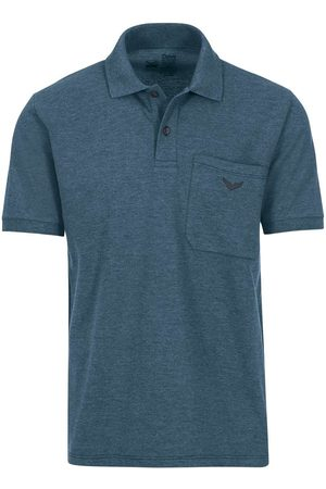 Trigema Comfort Fit Polo shirt Korte mouw jeans, Melange