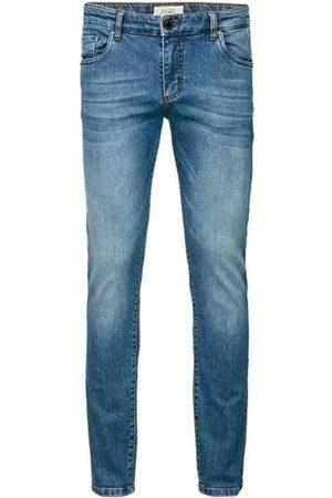 Profuomo Heren Slim - Sky Blue Slim Fit Jeans , Melange