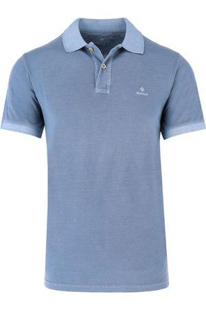 GANT Regular Fit Polo shirt Korte mouw lichtblauw, Effen