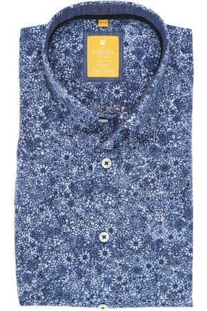 Redmond Heren Korte mouwen - Casual Modern Fit Overhemd Korte mouw , Bloemen