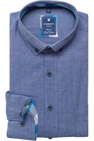 Redmond Heren Casual - Casual Regular Fit Overhemd , Effen