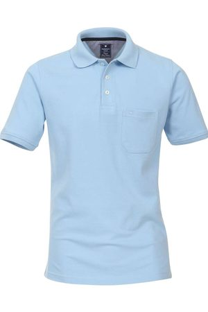 Redmond Heren Korte mouw - Casual Polo shirt Korte mouw lichtblauw, Effen