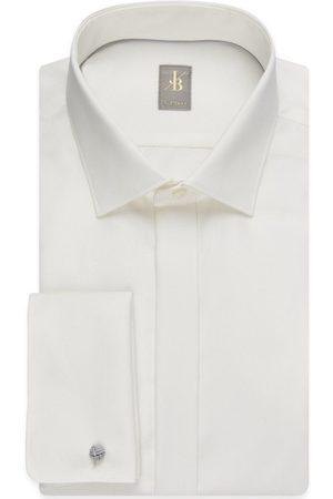 Jacques Britt Heren Lange mouwen - Custom Fit Overhemd , Effen