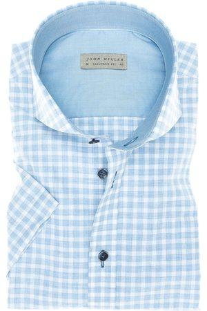 john miller Heren Korte mouwen - Tailored Fit Overhemd Korte mouw , Ruit