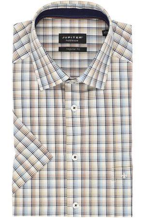 Jupiter Heren Korte mouwen - Regular Fit Overhemd Korte mouw , Ruit