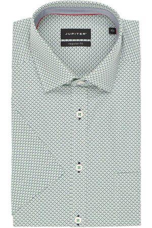 Jupiter Heren Korte mouwen - Regular Fit Overhemd Korte mouw / / , Motief