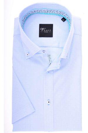 Venti Modern Fit Overhemd Korte mouw lichtblauw/ , Motief