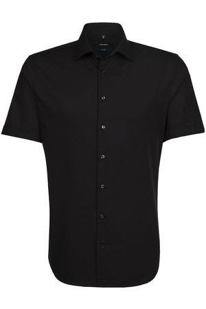 Seidensticker Heren Korte mouwen - Tailored Overhemd Korte mouw , Effen