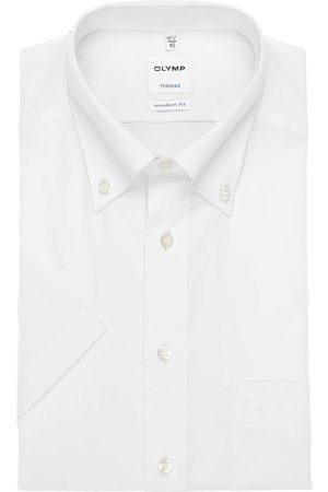 Olymp Tendenz Modern Fit Overhemd Korte mouw , Effen