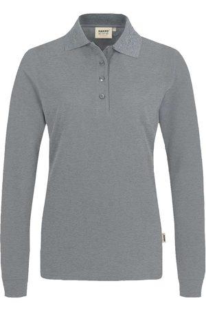 HAKRO Heren Poloshirts - 215 Regular Fit Dames poloshirt met lange mouwen , Melange