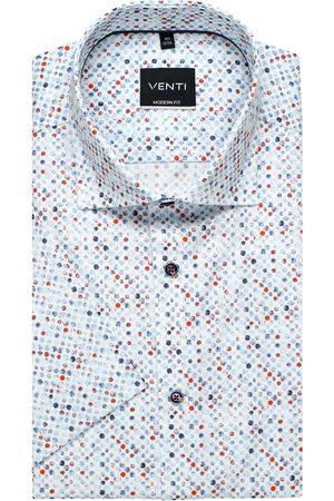 Venti Heren Korte mouwen - Modern Fit Overhemd Korte mouw veelkleurig, Motief