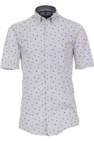 Casa Moda Heren Korte mouwen - Comfort Fit Overhemd Korte mouw lichtrood, Motief