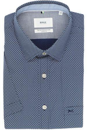 Brax Comfort Fit Overhemd Korte mouw donkerblauw/ , Motief