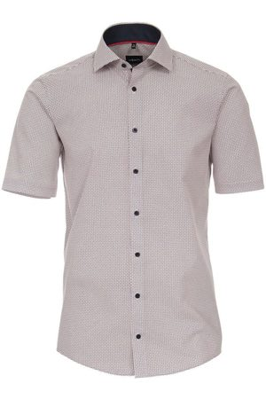 Venti Heren Korte mouwen - Modern Fit Overhemd Korte mouw / / , Motief