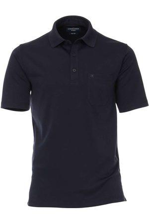 Casa Moda Heren Korte mouw - Polo shirt Korte mouw ijsblauw, Effen