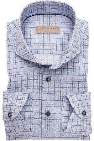 john miller Heren Lange mouwen - Slim Fit Overhemd , Ruit