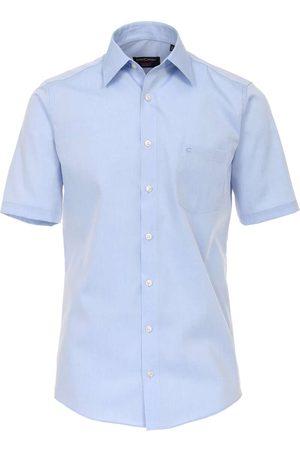 Casa Moda Heren Korte mouwen - Modern Fit Overhemd Korte mouw lichtblauw, Effen