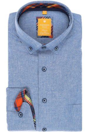 Redmond Casual Modern Fit Overhemd lichtblauw, Effen