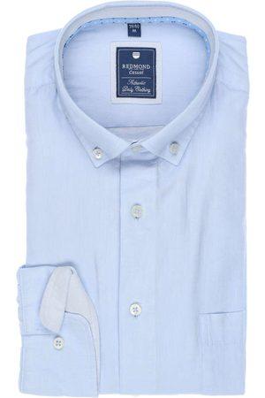 Redmond Heren Casual - Casual Regular Fit Overhemd lichtblauw, Effen