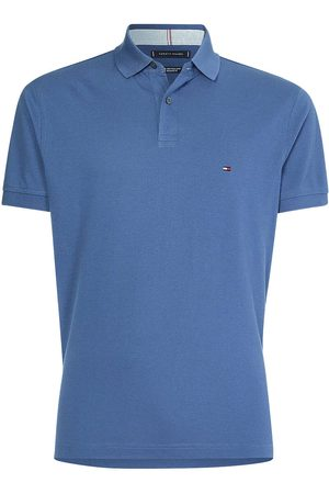 Tommy Hilfiger Heren Korte mouw - Regular Fit Polo shirt Korte mouw indigo, Effen