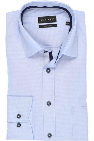Jupiter Heren Lange mouwen - Regular Fit Overhemd lichtblauw, Faux-uni