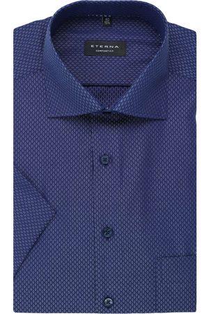 ETERNA Heren Korte mouwen - Comfort Fit Overhemd Korte mouw , Motief