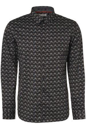 No Excess Heren Lange mouwen - Modern Fit Overhemd , Motief