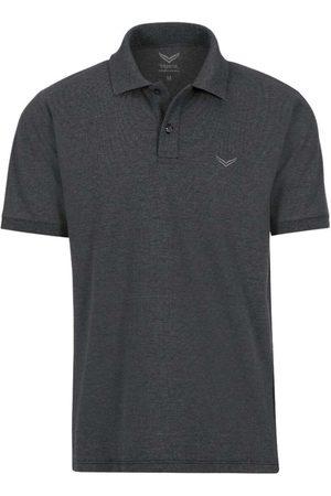 Trigema Heren Korte mouw - Comfort Fit Polo shirt Korte mouw antraciet, Melange