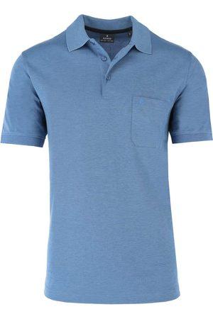 Ragman Heren Korte mouw - Regular Fit Polo shirt Korte mouw bonnie blue, Effen