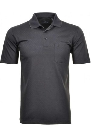 Ragman Heren Korte mouw - Softknit Regular Fit Polo shirt Korte mouw , Motief
