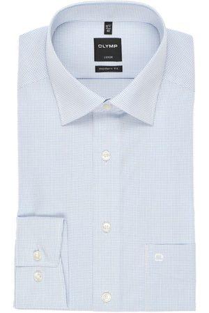 Olymp Heren Lange mouwen - Luxor Modern Fit Overhemd , Ruit