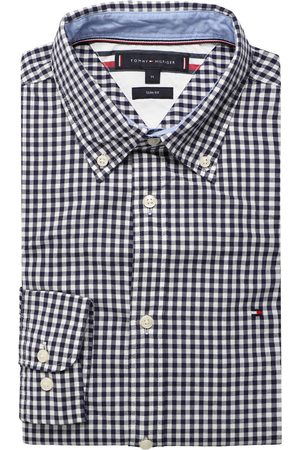 Tommy Hilfiger Heren Casual - Casual Slim Fit Overhemd marine/ , Vichy ruit