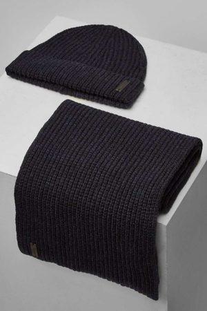 Maerz Heren Petten - Pet-sjaal-set , Effen