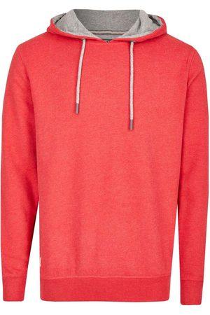 Kitaro Heren Lange mouw - Casual Fit Hooded Sweatshirt donkerrood, Effen