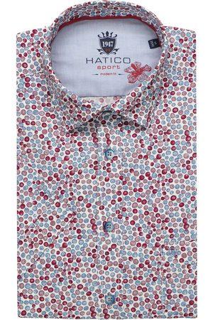 Hatico Heren Korte mouwen - Modern Fit Overhemd Korte mouw / , Motief