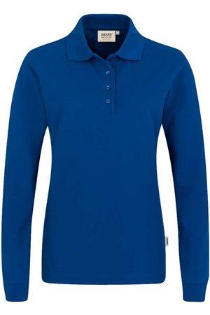 HAKRO Heren Poloshirts - 215 Regular Fit Dames poloshirt met lange mouwen donkerblauw, Effen
