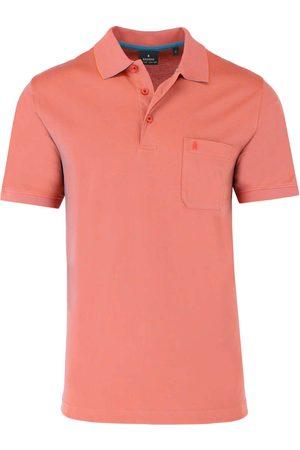 Ragman Heren Korte mouw - Regular Fit Polo shirt Korte mouw meloen, Effen
