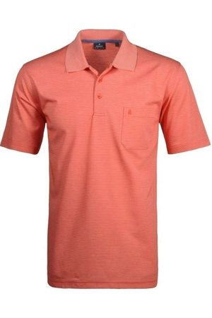 Ragman Heren Korte mouw - Regular Fit Polo shirt Korte mouw , Gestreept