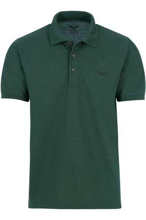 Trigema Heren Korte mouw - Comfort Fit Polo shirt Korte mouw donkergroen, Effen