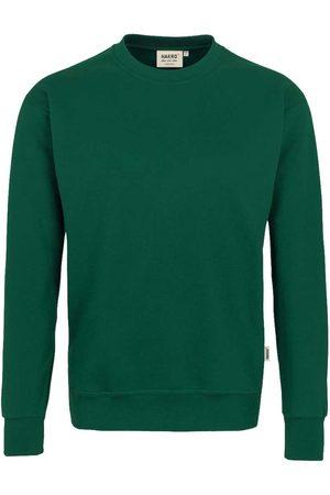 HAKRO Heren Lange mouw - 471 Comfort Fit Sweatshirt ronde hals donkergroen, Effen