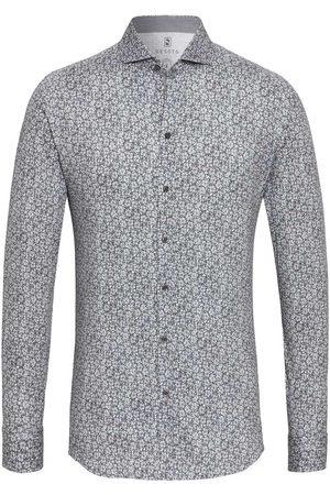 DESOTO Heren Tops - Slim Fit Jersey shirt lichtgrijs, Bloemen