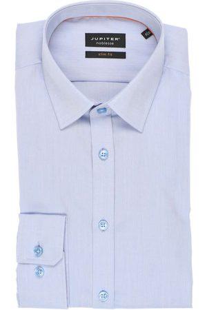 Jupiter Heren Lange mouwen - Slim Fit Overhemd lichtblauw, Effen