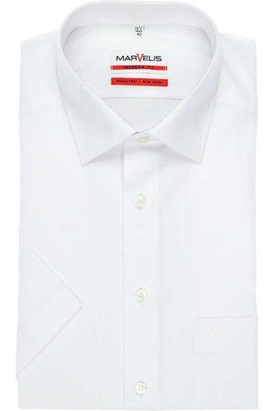 Marvelis Heren Korte mouwen - Modern Fit Overhemd Korte mouw , Effen