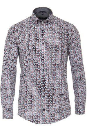 Casa Moda Heren Casual - Casual Casual Fit Overhemd veelkleurig, Motief